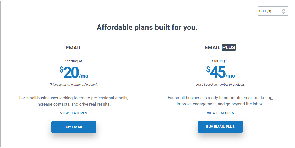 Email Marketing Pricing Plans for Small Business Constant Contact