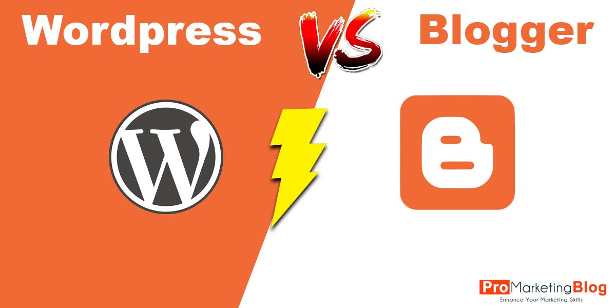 blogger vs wordpress which oine is better . pros and cons